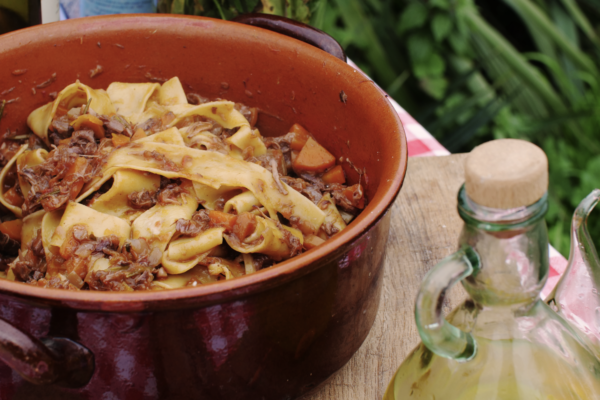 Italian ragu with pappardelle