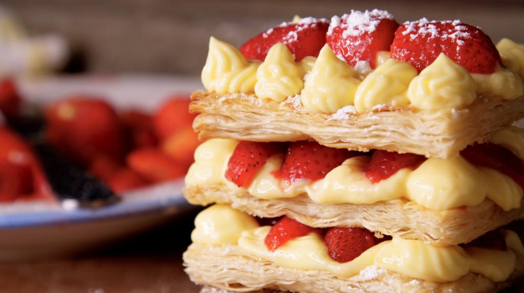 Millefoglie Mille-feuille Pastry Cream Recipe