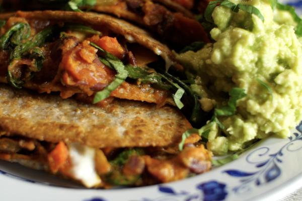 vegetarian dinner quesadillas
